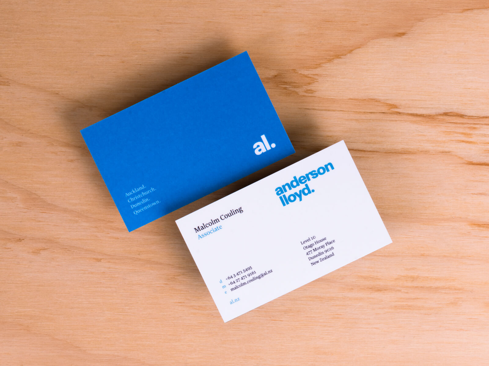 Anderson Lloyd business card examples
