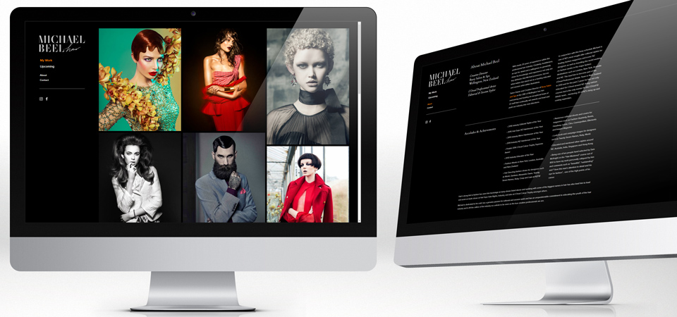 Michael Beel Hairdressing website design