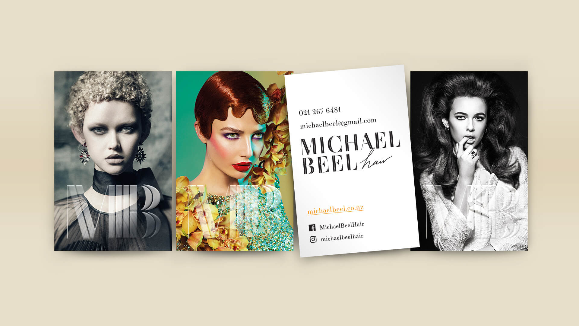 Michael Beel Hair Business card design