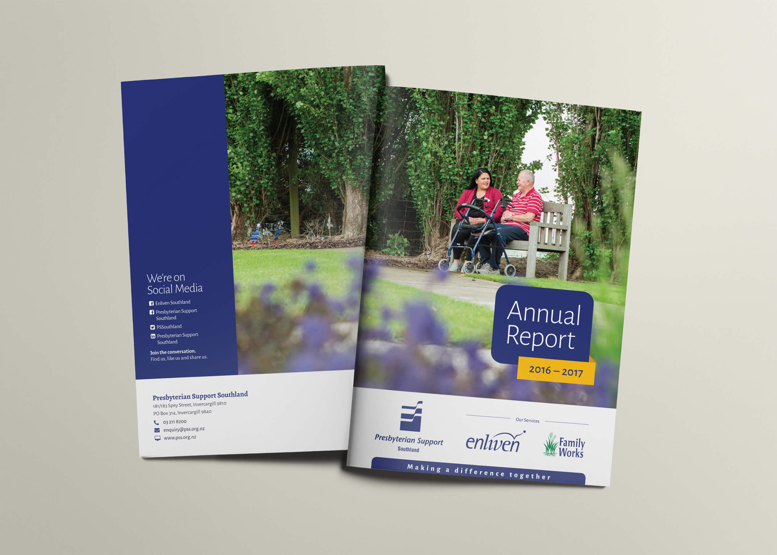 Presbyterian Support Southland Annual Report cover